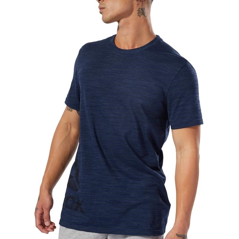Reebok Training Essentials Marble Group T-Shirt - Lacivert