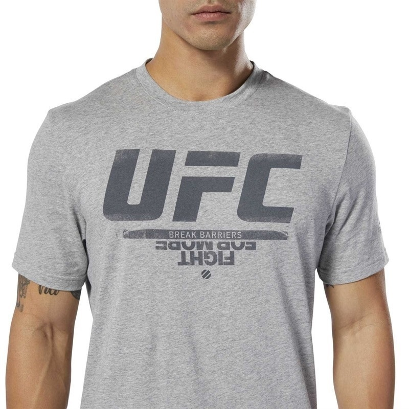 Reebok UFC Fan Gear Logo T-Shirt - Gri