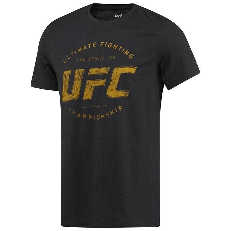 Reebok UFC Fan Logo T-Shirt - Siyah