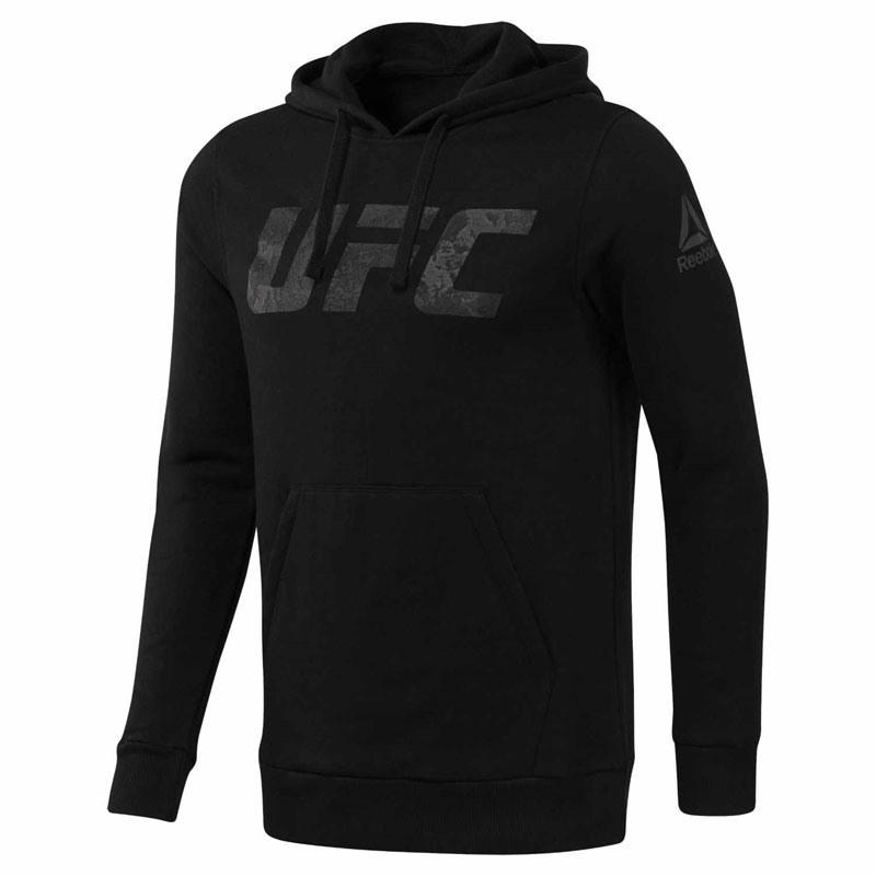 Reebok UFC Pullover Kapüşonlu Üst - Siyah