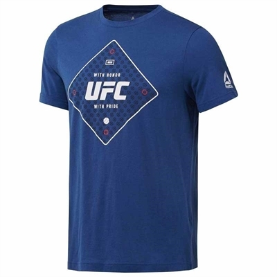 Reebok UFC Text T-Shirt - Mavi