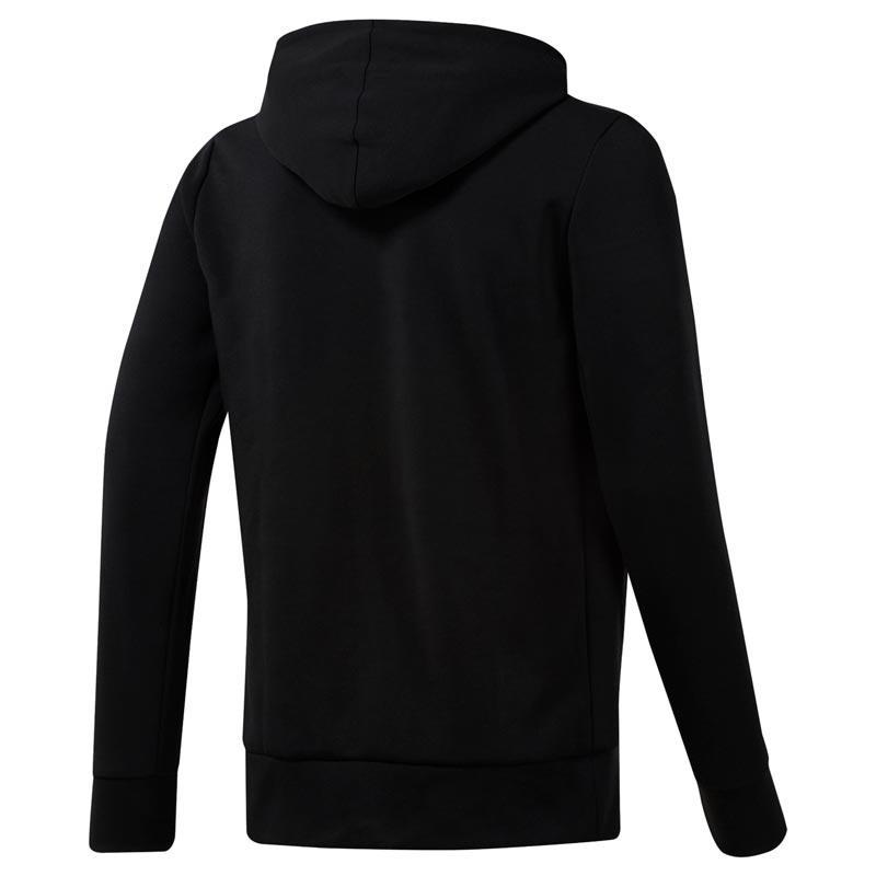 Reebok Wor Melange Doubleknit Full-zip Hoodie - Siyah