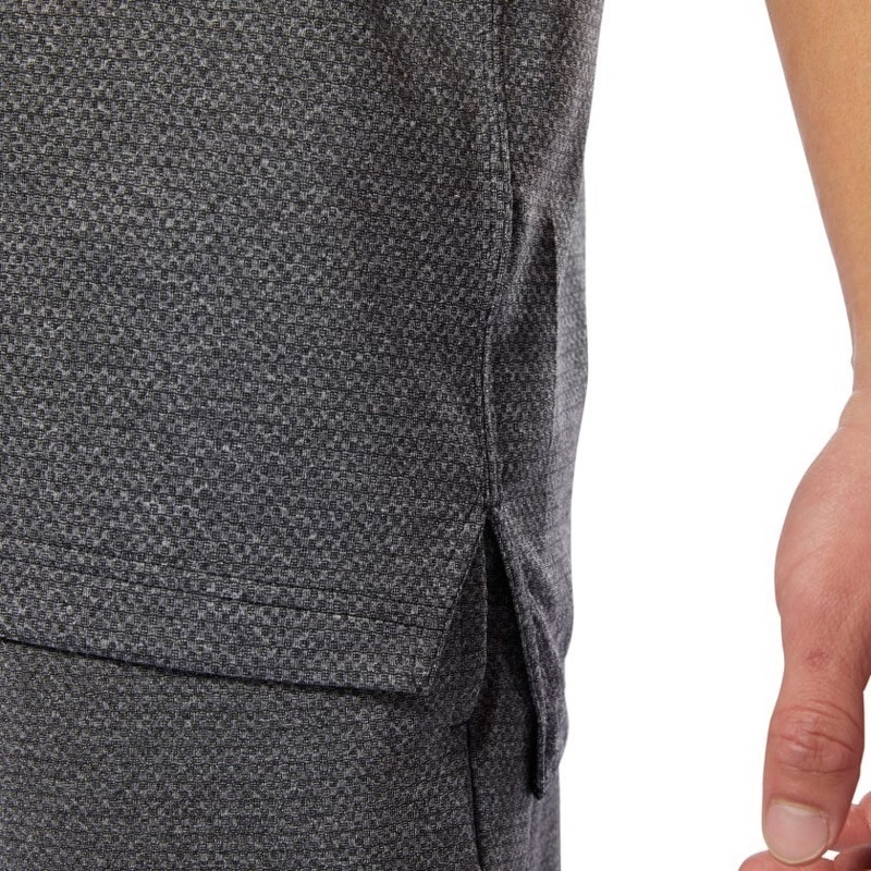 Reebok Wor Melange Tech Top T-Shirt - Gri