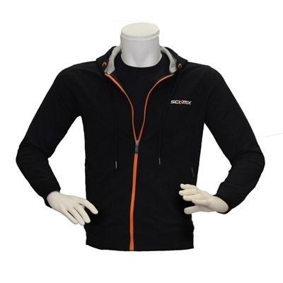 Sci-Mx Kapüşonlu Fermuarlı Sweatshirt Lacivert