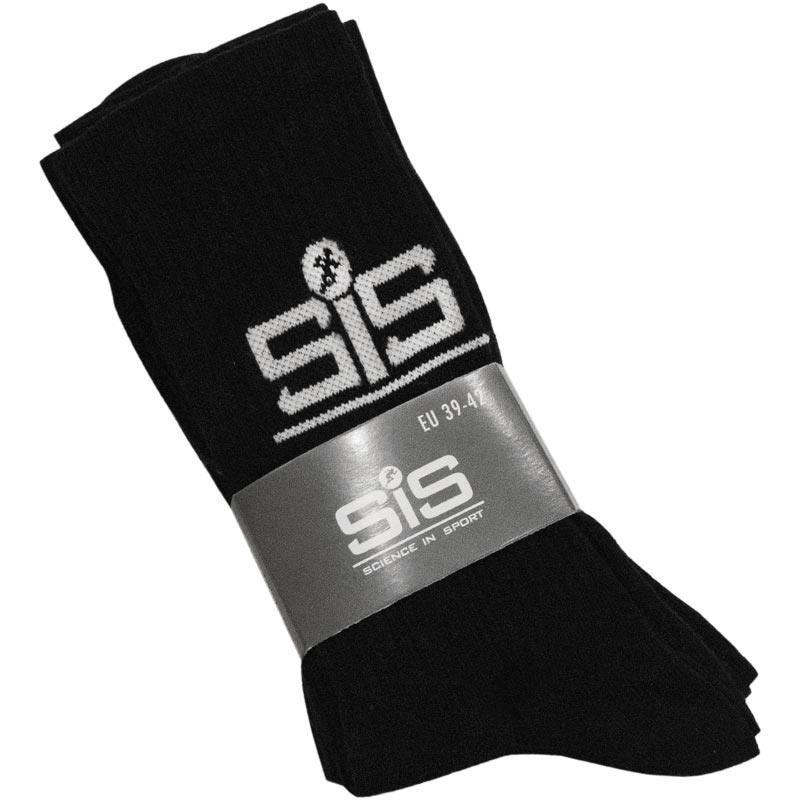 SiS Sportwear Uzun Çorap 3'lü - Siyah