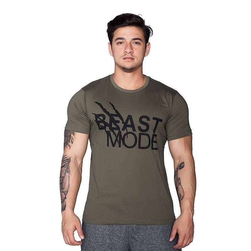 Supplementler.com Beast Mode T-Shirt Yeşil Siyah