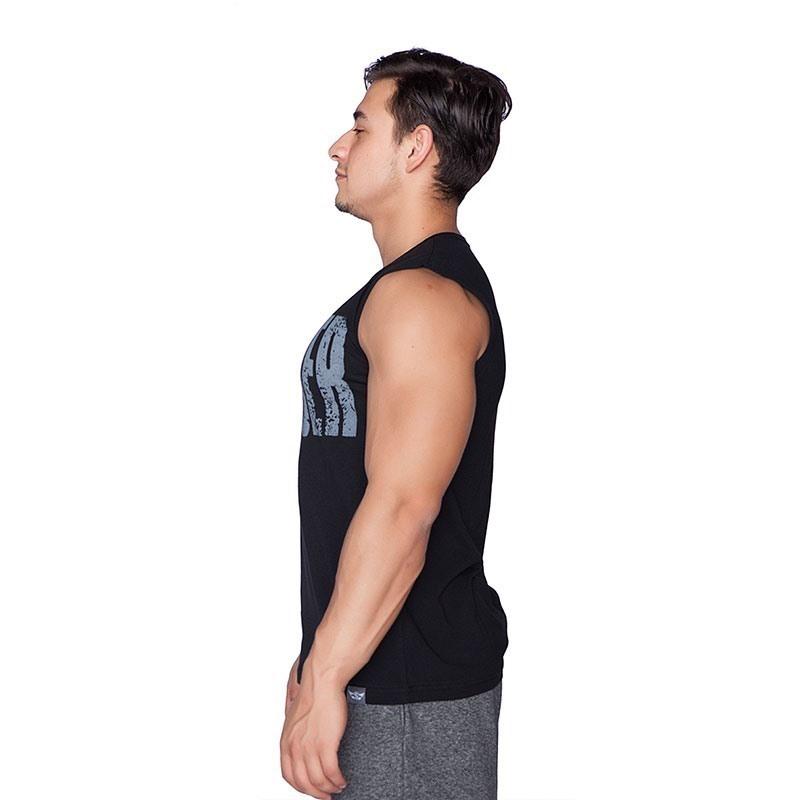 Supplementler.com Conquer Kolsuz T-Shirt Siyah