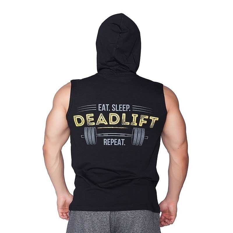 Supplementler.Com Deadlift Kapüşonlu Kolsuz T-Shirt Siyah