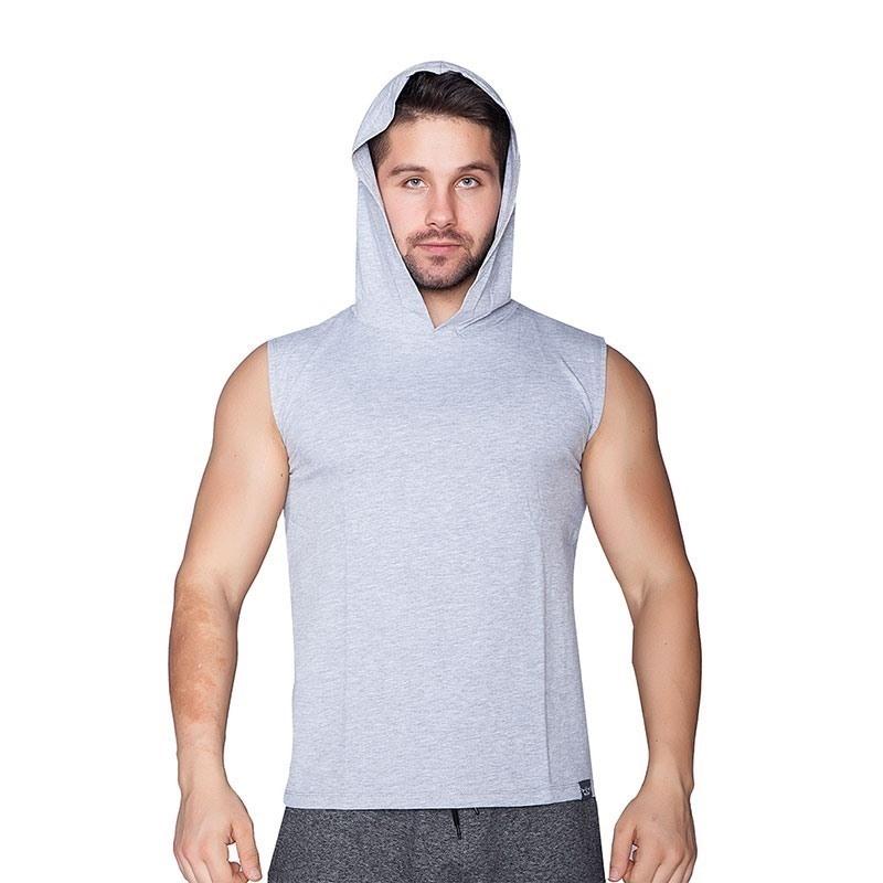 Supplementler.Com Hardcore Potential Kapüşonlu Kolsuz T-Shirt Gri