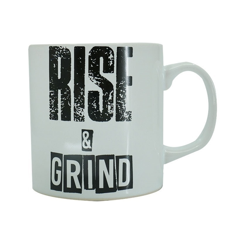 Supplementler.Com Rise And Grind Kupa Beyaz