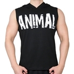 Supplementler.Com Animal Kapüşonlu Kolsuz T-Shirt Siyah