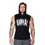 Supplementler.Com Animal Kapüşonlu Kolsuz T-Shirt Siyah