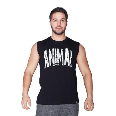 Supplementler.Com Animal Kolsuz T-Shirt Siyah
