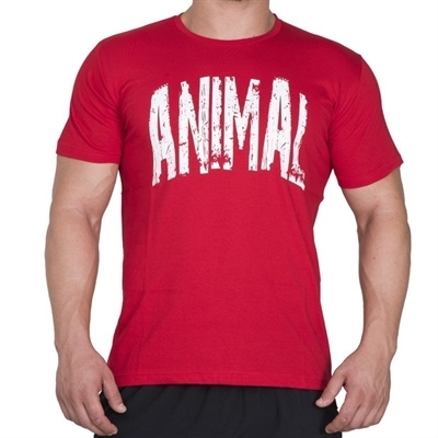 Supplementler.com Animal T-Shirt Kırmızı Beyaz