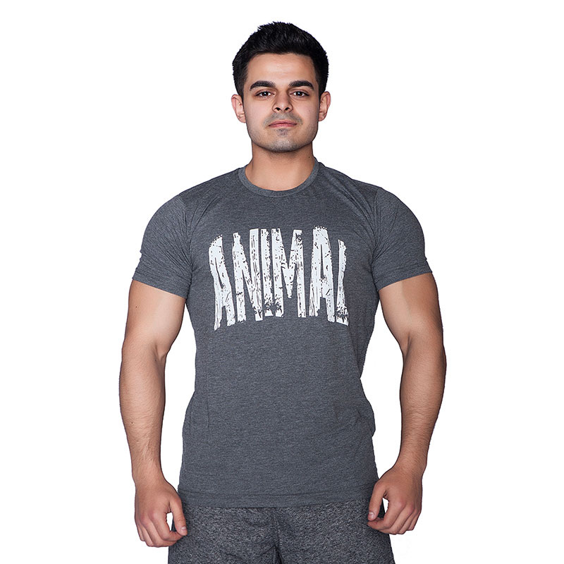 Supplementler.com Animal T-Shirt Koyu Gri