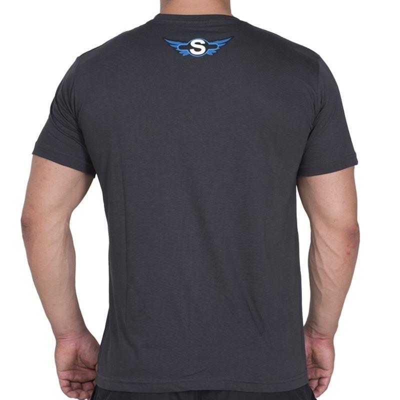 Supplementler.com Az Laf Çok İş T-Shirt Koyu Gri
