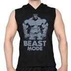 Supplementler.Com Beast Mode Hlk Kapüşonlu Kolsuz T-Shirt Siyah