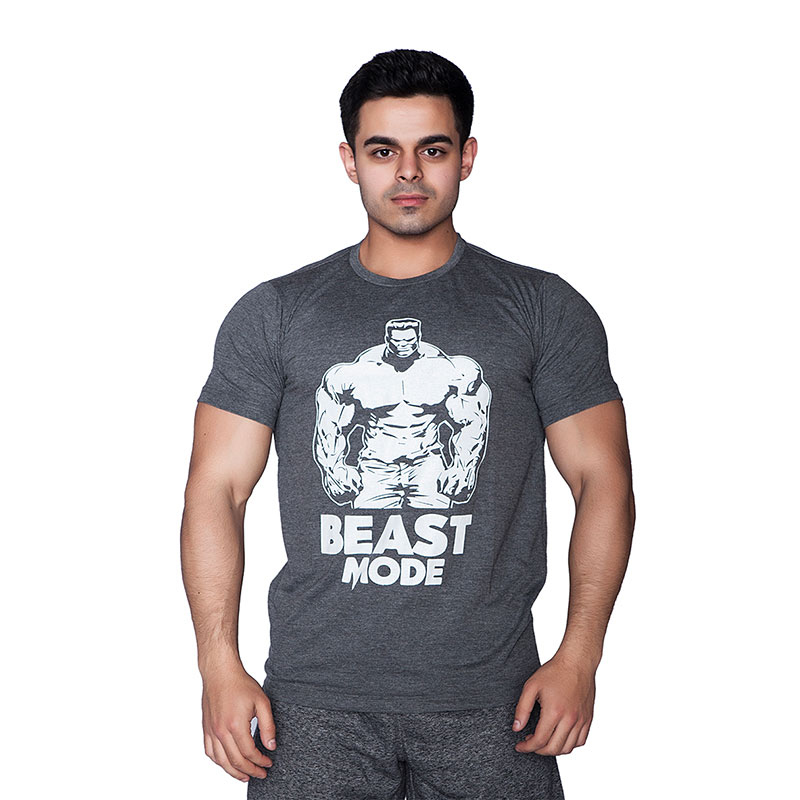 Supplementler.com Beast Mode HLK T-Shirt Koyu Gri