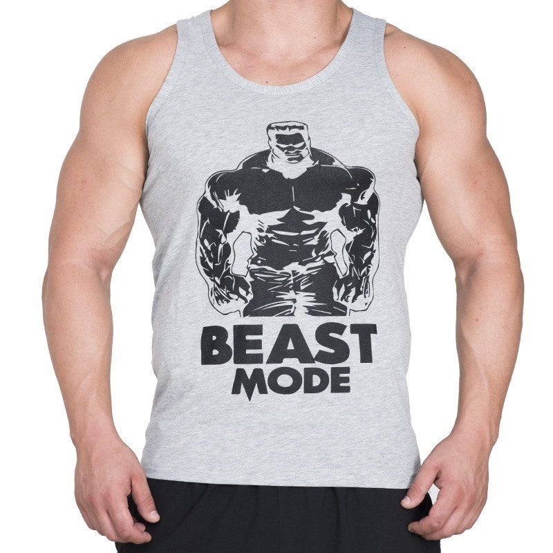 Supplementler.com Beast Mode HLK Tank Top Açık Gri