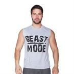 Supplementler.Com Beast Mode Kolsuz T-Shirt Gri