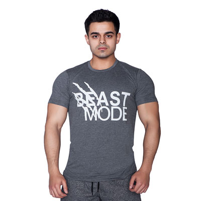 Supplementler.com Beast Mode T-shirt Koyu Gri