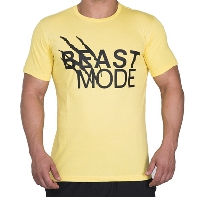 Supplementler.com Beast Mode T-Shirt Sarı Siyah
