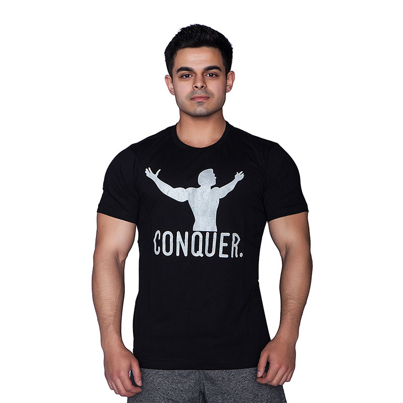 Supplementler.com Conquer T-Shirt Siyah