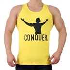 Supplementler.com Conquer Tank Top Sarı Siyah