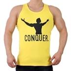 Supplementler.com Conquer Tank Top Sarı Siyah