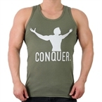 Supplementler.com Conquer Tank Top Yeşil Gri
