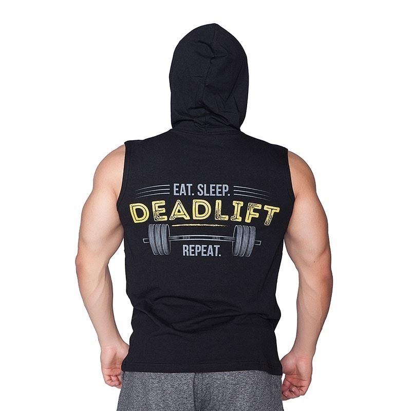 Supplementler.Com Deadlift Kapüşonlu Kolsuz T-Shirt Siyah