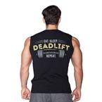 Supplementler.Com Deadlift Kolsuz T-Shirt Siyah