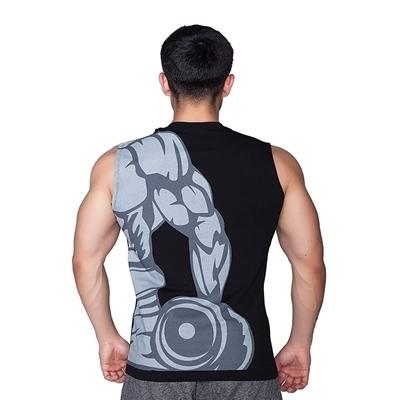 Supplementler Supplementler.com Dumbell Arm Kolsuz T-Shirt Siyah