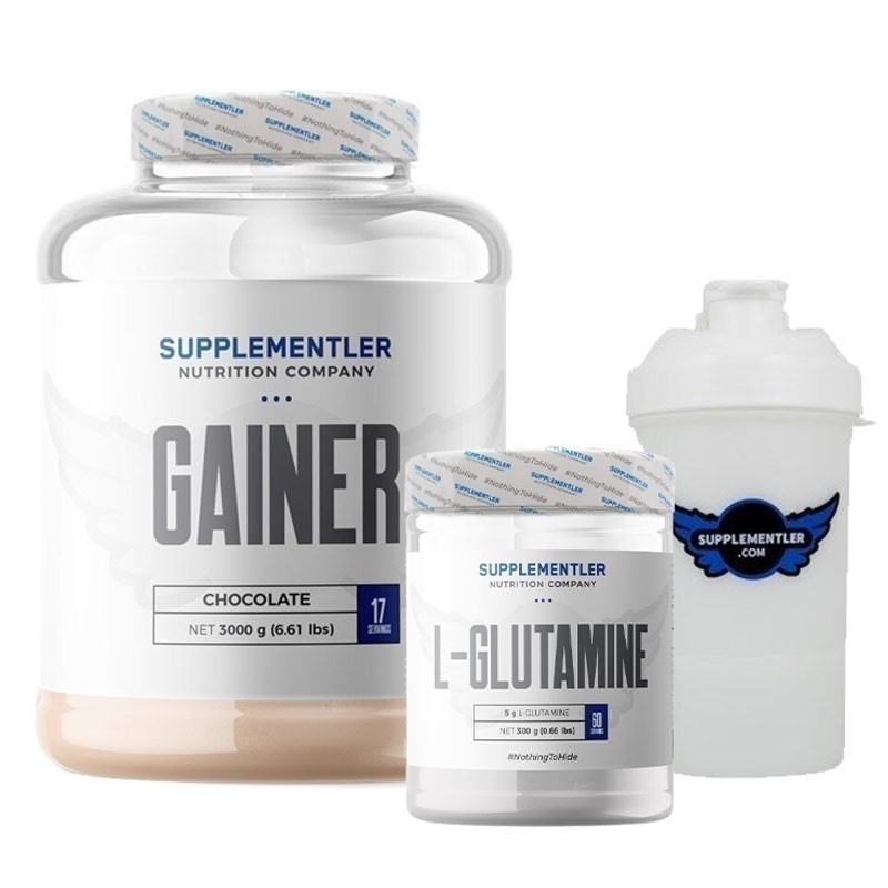 Supplementler.com Gainer 3000 Gr + Glutamine 300 Gr Kombinasyonu