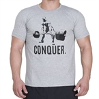 Supplementler.com Halter Conquer T-Shirt Açık Gri