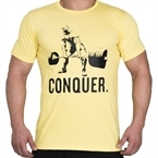 Supplementler.com Halter Conquer T-Shirt Sarı