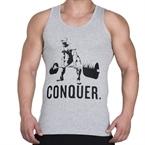 Supplementler.com Halter Conquer Tank Top Açık Gri