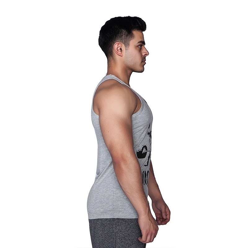Supplementler.com Halter Conquer Tank Top Açık Gri