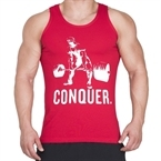 Supplementler.com Halter Conquer Tank Top Kırmızı