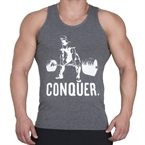 Supplementler.com Halter Conquer Tank Top Koyu Gri