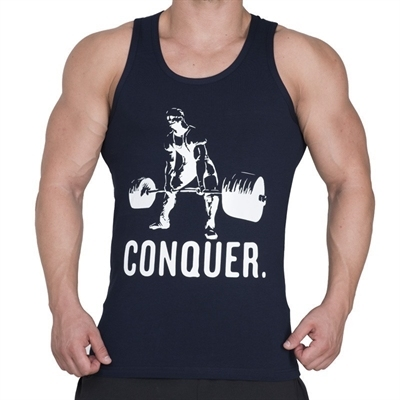 Supplementler.com Halter Conquer Tank Top Lacivert