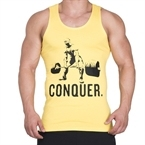 Supplementler.com Halter Conquer Tank Top Sarı