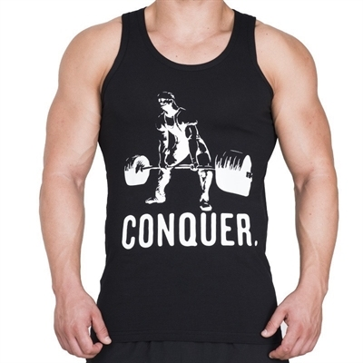 Supplementler.com Halter Conquer Tank Top Siyah