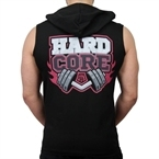 Supplementler.Com Hardcore Kapüşonlu Kolsuz T-Shirt Siyah