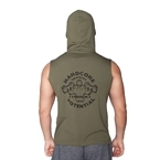 Supplementler.Com Hardcore Potential Kapüşonlu Kolsuz T-Shirt Yeşil