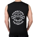 Supplementler.Com Hardcore Potential Kolsuz T-Shirt Siyah