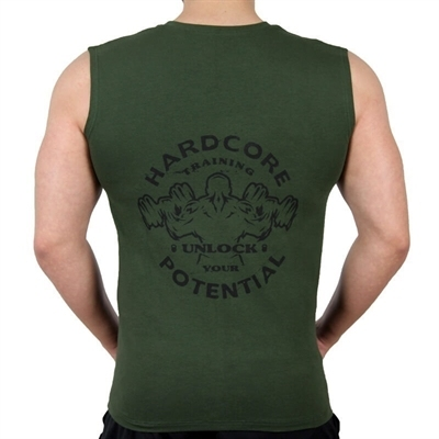 Supplementler.Com Hardcore Potential Kolsuz T-Shirt Yeşil