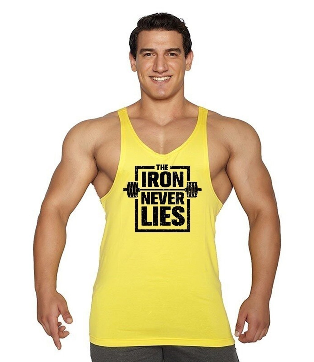 Supplementler.com Iron Never Lies Fitness Atleti Sarı