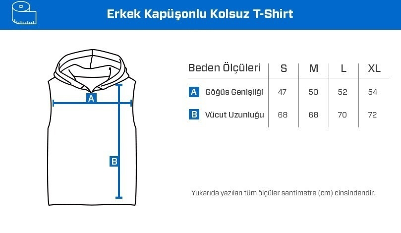 Supplementler.Com Kapüşonlu Kolsuz T-Shirt Siyah