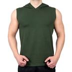 Supplementler.Com Kapüşonlu Kolsuz T-Shirt Yeşil